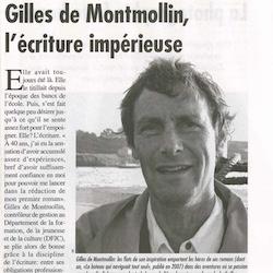 gilles de montmollin - biographie